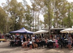 Food truck at Benahavis Sunday morning flea market