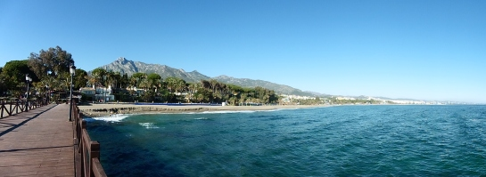 Marbella Town from jetty