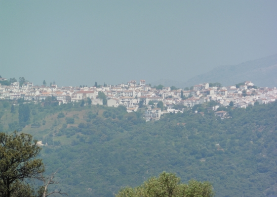 zooming in on Gaucín from afar - photo: Liz Glazer