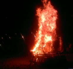 ...the mass ritual burning of personal items storing negative energy from the previous year.