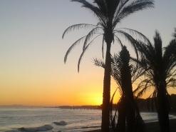 Marbella Town autumn sunset skies