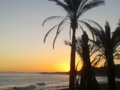 Marbella Town autumn sunset skies