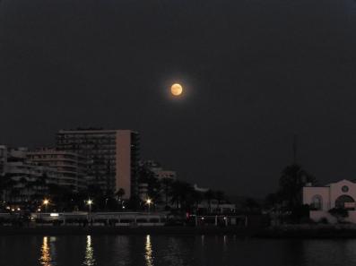 Marbella Town - near full moon 13th Nov