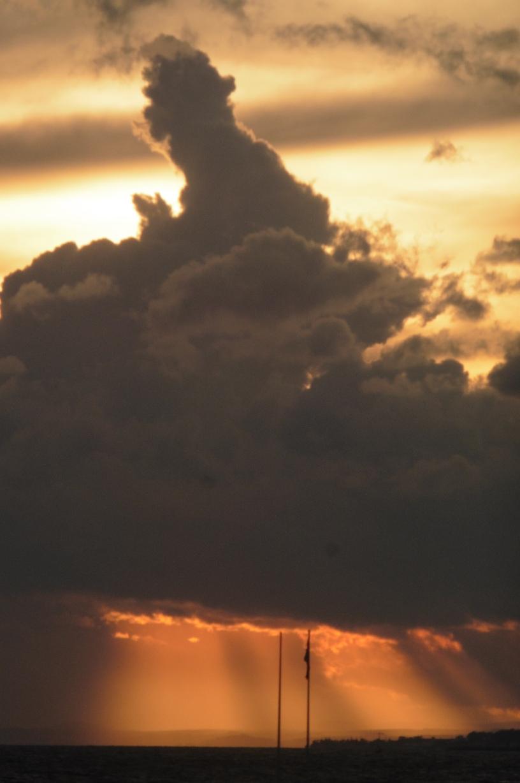 Marbella Town sunset skies