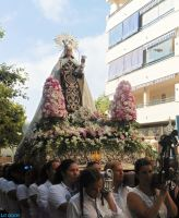 Arriving at the entrance of the Hermandad de la Virgen del Carmen