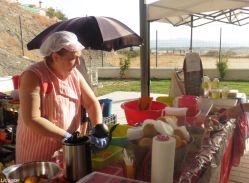 Freshly-pressed organic gazpacho