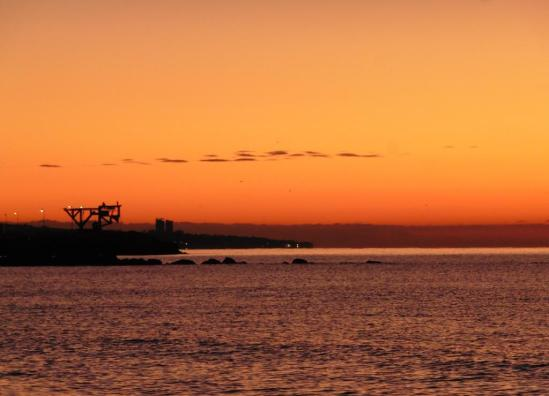 Sunrise over Marbella Town Fishing port